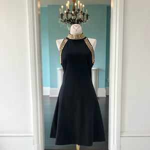 Brand New Michael Kors Black Gold Dress